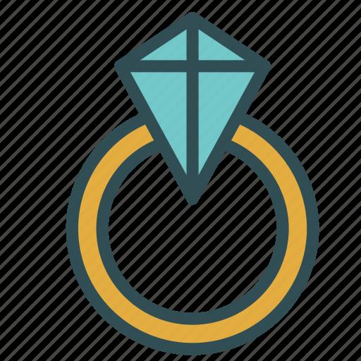 diamond, engagement, ring, wedding icon