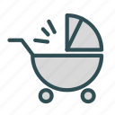 baby, infant, stroller, toddler icon