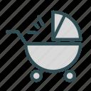 baby, infant, stroller, toddler icon