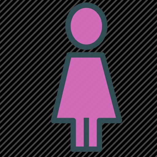 bathroom, shape, sign, woman icon