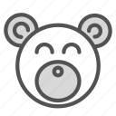 animal, bear, stuffed, teddy, toy icon