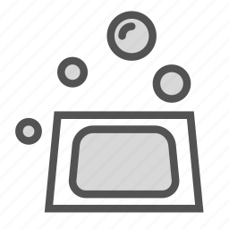 bubbles, clothes, machine, washing icon