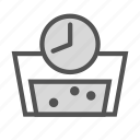 clock, clothes, machine, soap, timer, washing, watch icon