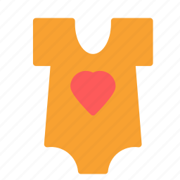 baby, clothes, heart, infant, toddler, tshirt icon