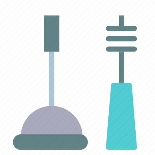 accessories, bathroom, brush, clog icon