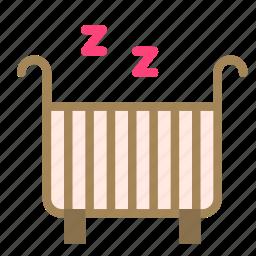 baby, bed, cradle, sleep icon