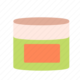 body, container, cream, face, hand icon