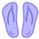 beach, flipflops, pool, shoes icon