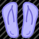 beach, flipflops, pool, shoes icon
