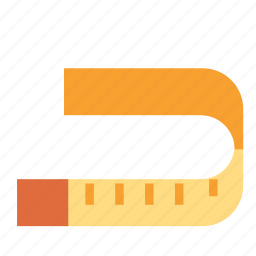 clothes, fashion, measuring, tailoring, tape icon