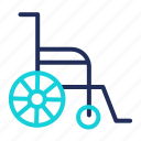 disable, handicap, insurance, wheelchair icon