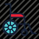 disable, handicap, insurance, wheelchair icon