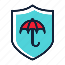 insurance, protect, protection, shield, umbrella icon