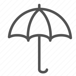 opened, protection, rain, umbrella icon