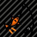 fish, fishery, pisciculture icon