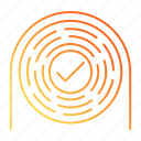 career advancement, fingerprint, identification, identity, uniqueness icon