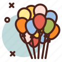 balloons, circus, party icon