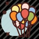 balloons, circus, party