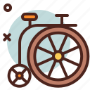 bike, circus, party icon