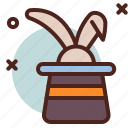 bunny, circus, hat, party icon