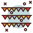 circus, party, confetti icon