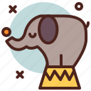 circus, elephant, party icon