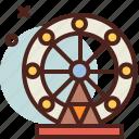 circus, ferris, party, wheel icon