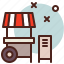 circus, food, party, stand icon