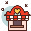 booth, circus, kissing, party icon