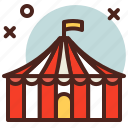circus, party, tent icon