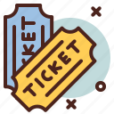 circus, party, tickets icon