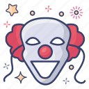 clown mask, evil joker, halloween, joker face, scary clown, scary joker