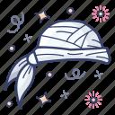 cap, hat, headgear, headpiece, headwear, pirate bandana