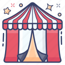 carnival, circus tent, commercial activity, entertainment, fair, festival, funfair