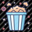 cinema snacks, fast food, popcorn, popcorn snacks, snack box