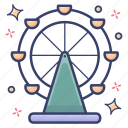 ferris wheel, historic wheel, london eye, london landmark, london monument