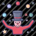conjuror, juggler, magician, performer, trickster