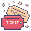 carnival ticket, circustickets, coupon, festival tickets, party tickets