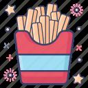 frites, hot chips, potato fries, potato stick, snack, twist potato