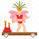 platform, show, car, carnival, festival icon