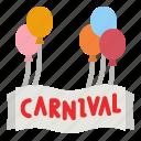 balloon, celebration, decoration, name, entertainment icon