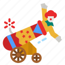 canon, circus, fairground, carnival, entertainment icon