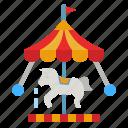 carousel, merry, go, round, funfair