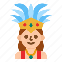 dancer, carnival, party, people, woman icon