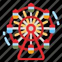 funfair, ferris, wheel, architecture, amusement icon