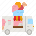 icecream, van, ice, cream, truck icon