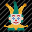 joker, hat, circus, fun, carnival icon