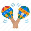 maracas, tropical, musical, instrument, orchestra icon