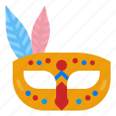 mask, accessory, carnival, costume, party icon