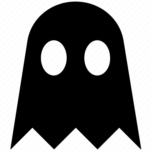 creepy, dreadful, ghost, halloween, pac man, spooky icon